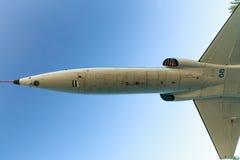 Parte inferior de Jet Airplane militar Imagens de Stock Royalty Free