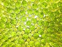 Parte inferior de la botella verde Fotografía de archivo libre de regalías
