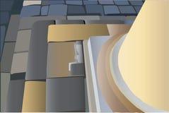 Parte inferior de la columna redonda Fotos de archivo libres de regalías