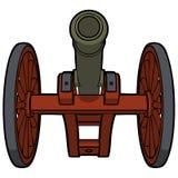 Parte inferior de la opinión del cañón de la guerra civil Foto de archivo libre de regalías