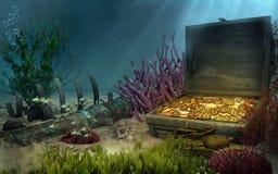 Parte inferior de mar de la fantasía Foto de archivo libre de regalías