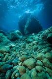 Parte inferior de mar rochosa imagem de stock