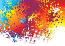 Parte inferior del arco iris del splat de la tinta Imágenes de archivo libres de regalías