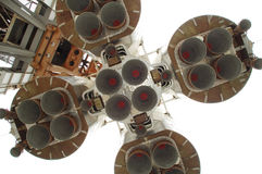 Parte inferior del cohete de espacio Foto de archivo