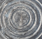 Parte inferior del cubo de acero viejo Imagen de archivo libre de regalías