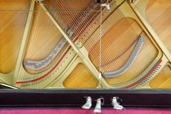 A parte inferior do piano Fotos de Stock Royalty Free