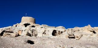 Parte inferior parcial de ruínas de Guge Foto de Stock