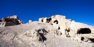 Parte inferior parcial de ruínas de Guge Imagem de Stock Royalty Free