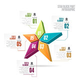 Parte Infographic del blocchetto della stella Fotografia Stock