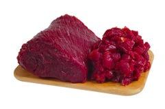 A parte inteira e a carne desbastada Fotos de Stock
