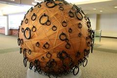 Parte interessante de arte finala dentro da área da porta do aeroporto internacional de Albany, Albany, New York, em março de 201 Fotos de Stock