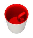 Parte interna della tazza - fuori Fotografia Stock