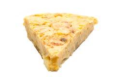 Parte isolata dell'omelette spagnola Immagine Stock