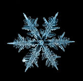 Parte macro do floco de neve de cristal natural de gelo foto de stock royalty free