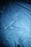 Parte macro do floco de neve de cristal natural de gelo Imagem de Stock