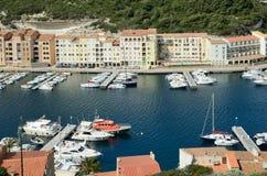 Parte mais inferior da cidade costeira Bonifacio Imagens de Stock Royalty Free