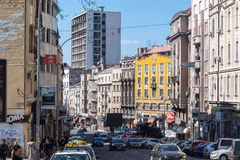 Parte mais velha de Belgrado do centro fotografia de stock