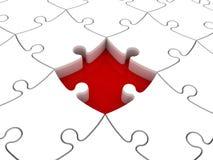 Parte mancante del puzzle Fotografia Stock Libera da Diritti