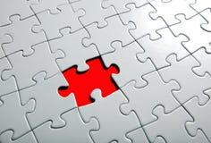 Parte mancante di puzzle Fotografie Stock Libere da Diritti