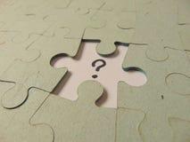 Parte mancante di un puzzle Fotografia Stock Libera da Diritti