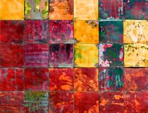 Parte metálica colorida da arte Foto de Stock Royalty Free