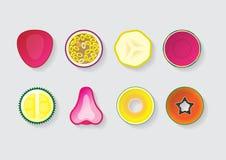 Parte misturada 2 do fruto Foto de Stock Royalty Free