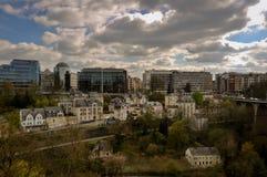 Parte moderna de la ciudad de Luxemburgo Fotografía de archivo libre de regalías