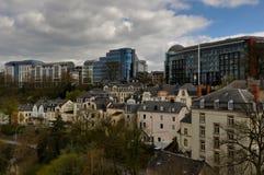 Parte moderna de la ciudad de Luxemburgo Fotos de archivo libres de regalías