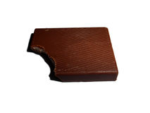 Parte mordida de chocolate, isolada no branco Fotografia de Stock Royalty Free