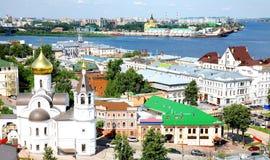 Parte Nizhny Novgorod di vista di estate più vecchia Fotografie Stock Libere da Diritti