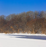 Parte no congelada del río Fotografía de archivo libre de regalías