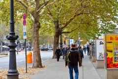 Parte pedonale di Kurfurstendamm a Berlino Fotografia Stock Libera da Diritti