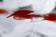 Parte pequena da superfície de metal riscada pintada com o preto, branco Imagem de Stock Royalty Free