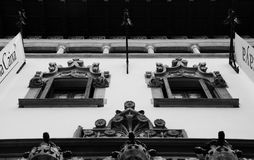 Parte perfecta 2 de la simetría de la ventana fotografía de archivo