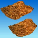 Parte pintada da terra rachada seca do deserto Imagem de Stock