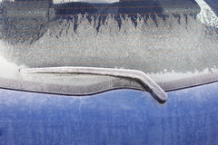 Parte posterior congelada de la ventana de coche fotografía de archivo libre de regalías