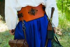 Parte posterior cosaca del ` s con la armadura foto de archivo