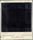 Parte posterior dañada de la polaroid Imagen de archivo