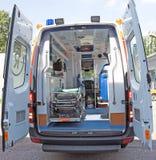 Parte posterior de la ambulancia Foto de archivo libre de regalías