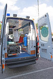 Parte posterior de la ambulancia Fotografía de archivo