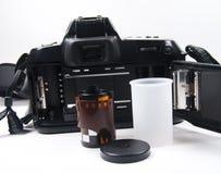 parte posterior de la cámara de 35m m imágenes de archivo libres de regalías
