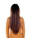 Parte posterior de la muchacha del adolescente con el pelo largo Imagen de archivo