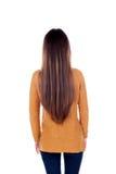 Parte posterior de la muchacha del adolescente con el pelo largo Imagen de archivo libre de regalías