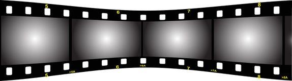 Parte posterior de la perspectiva de la tira de la película stock de ilustración