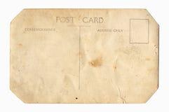 Parte posterior de la postal de la vendimia imagen de archivo libre de regalías