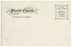 Parte posterior de la postal de la vendimia Imágenes de archivo libres de regalías
