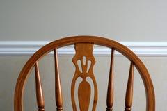Parte posterior de la silla y carril de silla Fotos de archivo libres de regalías