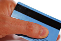 Parte posterior de la tarjeta de crédito Imagen de archivo