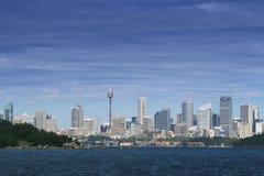 Parte posterior de la visión en la ciudad de Sydney Imágenes de archivo libres de regalías