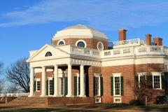Parte posterior de Monticello Imágenes de archivo libres de regalías